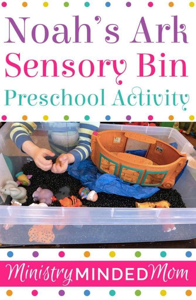 Noah's Ark Sensory Bin Activity for Preschoolers