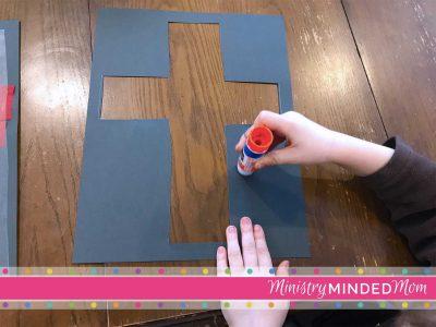The Cross of Jesus Preschool Suncatcher Craft