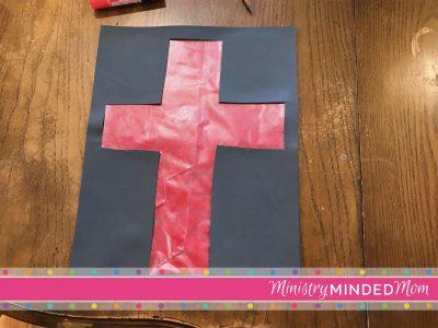 Preschool Suncatcher Cross for Passover