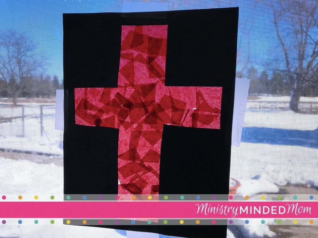 Cross of Jesus Sun Catcher Craft for Kids