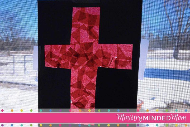 The Cross of Jesus Preschooler Suncatcher Craft