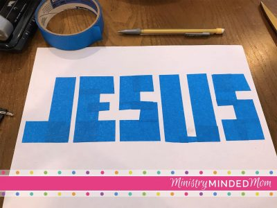 Jesus Tape Resist Paint Craft