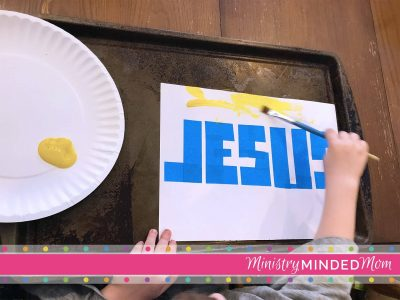 Jesus Takes Away Our Sins Painting Craft