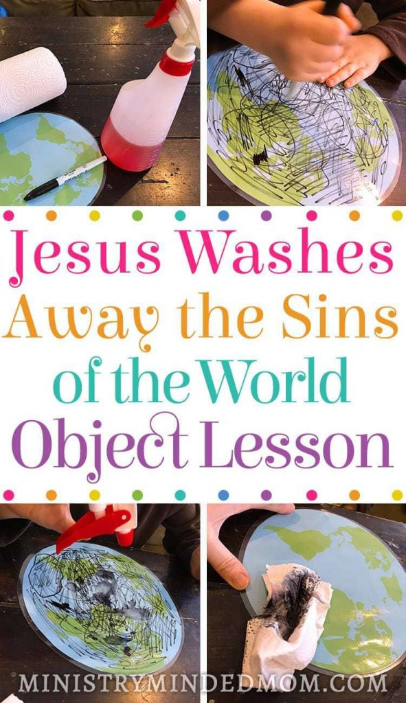 Jesus Washes Away the Sins of the World Object Lesson Activity
