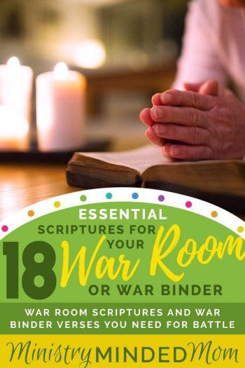 18 Essential Scriptures for Your War Room or War Binder