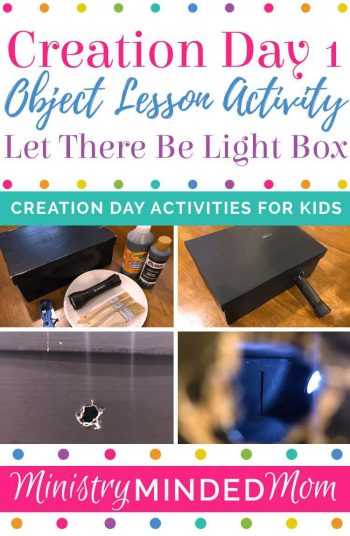Creation Day 1: Let There Be Light Box Object Lesson Activity