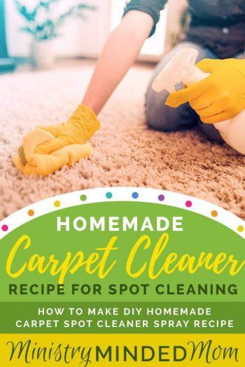 Homemade Carpet Spot Cleaner Recipe