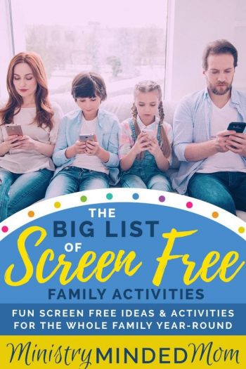 The Big List of Screen Free Family Activities
