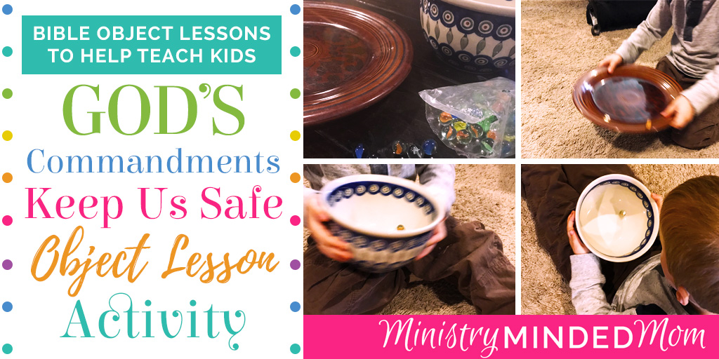God's Commandments Keep Us Safe Object Lesson Activity for Kids